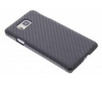 Zwart carbon look hardcase Samsung Galaxy Alpha