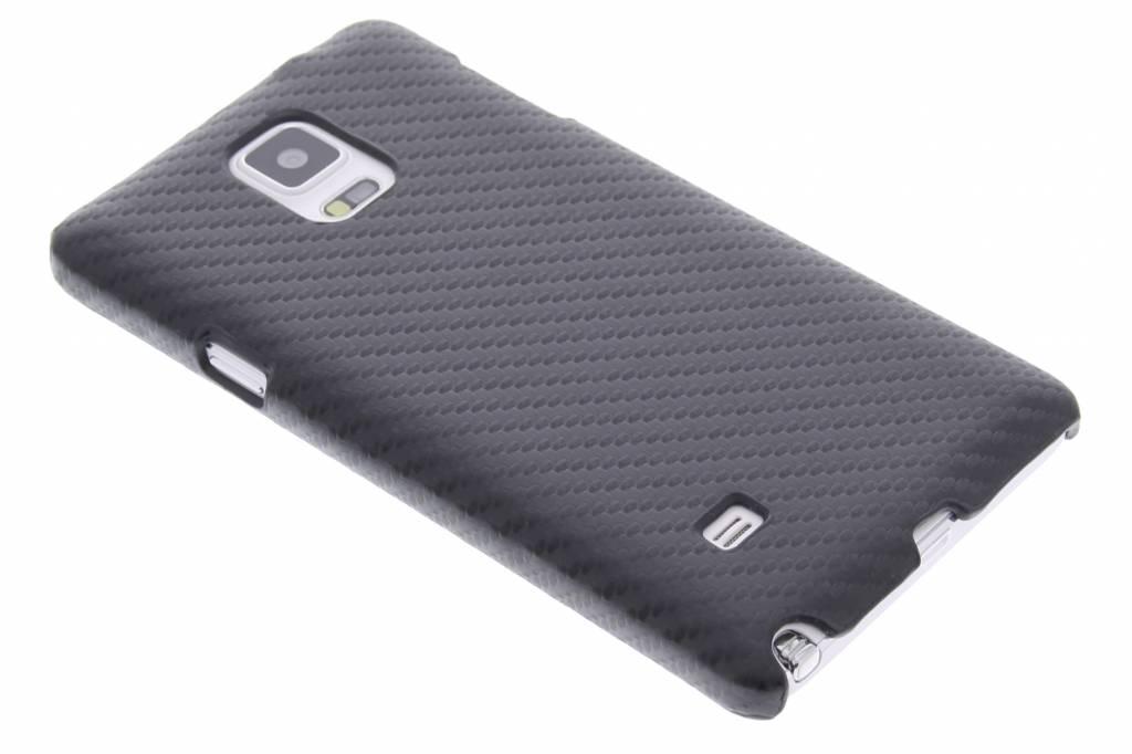 Zwarte carbon look hardcase voor de Samsung Galaxy Note 4