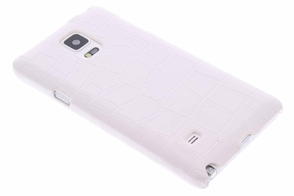 Witte krokodil design hardcase hoesje voor de Samsung Galaxy Note 4