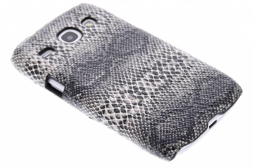 Zwart slangen design hardcase hoesje voor de Samsung Galaxy Core
