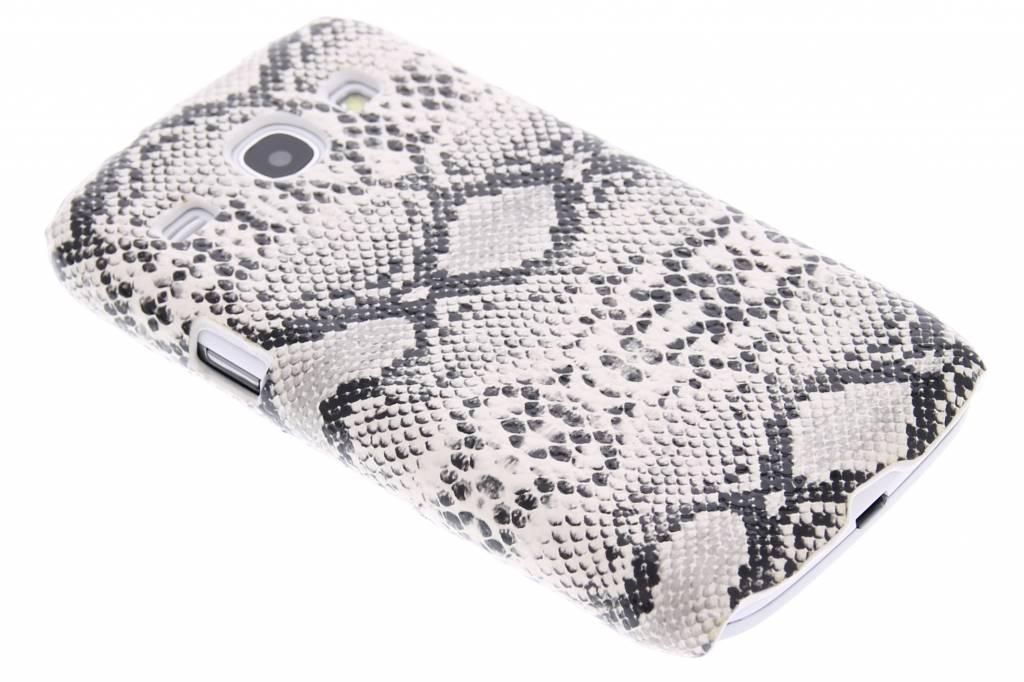 Wit slangen design hardcase hoesje voor de Samsung Galaxy Core