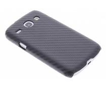Zwart carbon look hardcase Samsung Galaxy Core