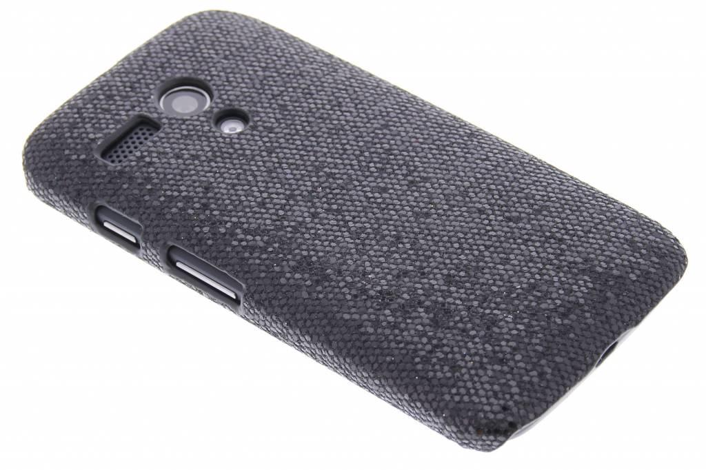 Zwart glamour design hardcase hoesje voor de Motorola Moto G