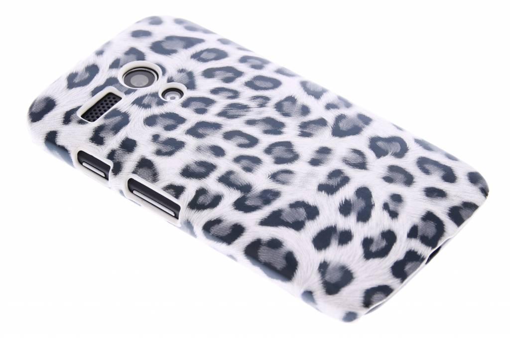 Grijs luipaard design hardcase hoesje voor de Motorola Moto G