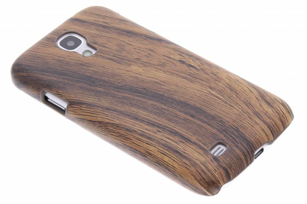Donkerbruin hout design hardcase hoesje voor de Samsung Galaxy S4