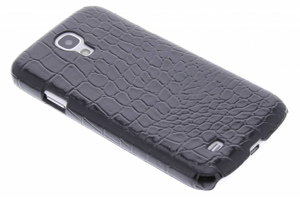 Zwart krokodil design hardcase hoesje voor de Samsung Galaxy S4