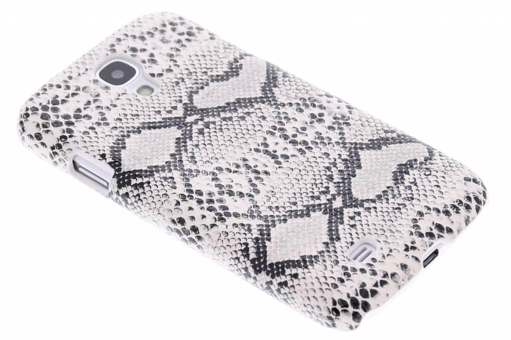 Wit slangen design hardcase hoesje voor de Samsung Galaxy S4