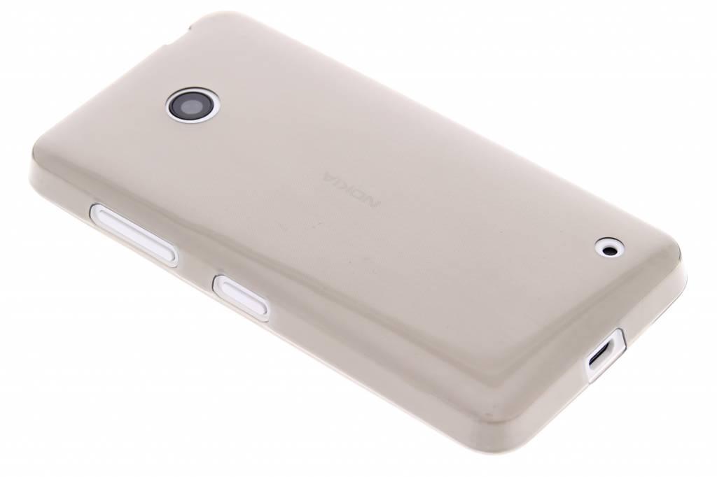 Grijs ultra thin transparant TPU hoesje voor de Nokia Lumia 630-635