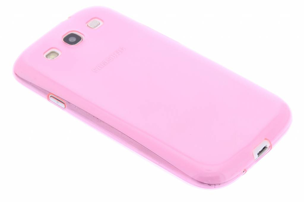Roze ultra thin transparant TPU hoesje voor de Samsung Galaxy S3 / Neo