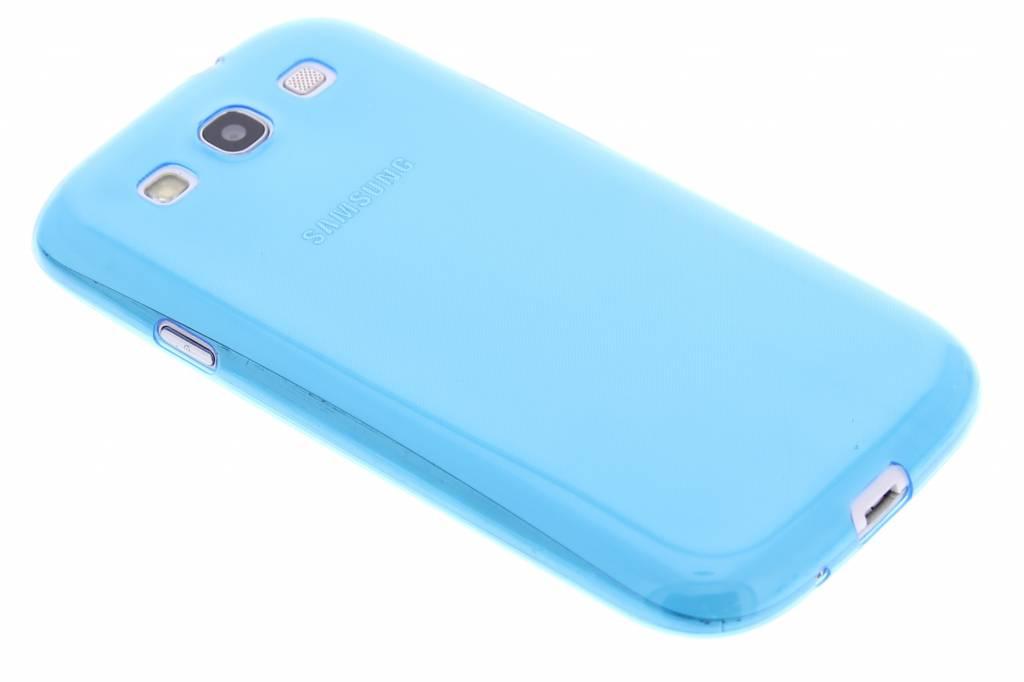 Blauw ultra thin transparant TPU hoesje voor de Samsung Galaxy S3 / Neo
