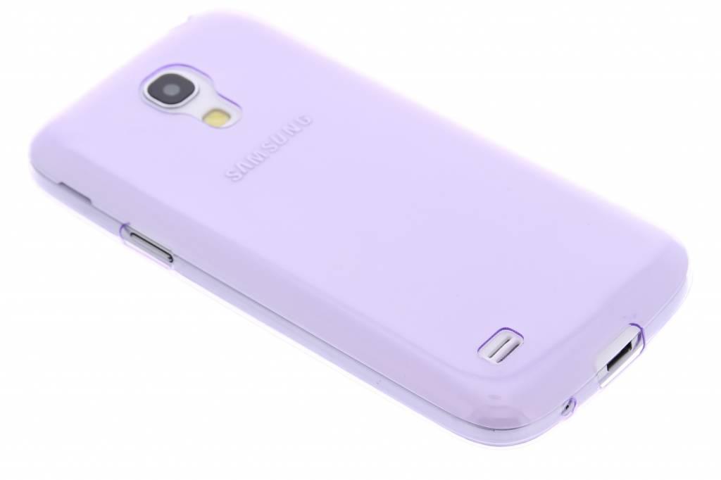 Paars ultra thin transparant TPU hoesje voor de Samsung Galaxy S4 Mini