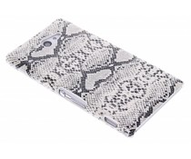 Wit slangen design hardcase Sony Xperia M2 (Aqua)
