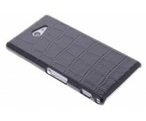 Zwart krokodil design hardcase Sony Xperia M2 (Aqua)