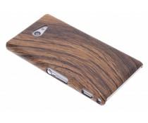 Hout design hardcase hoesje Sony Xperia M2 (Aqua)