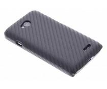 Zwart carbon look hardcase hoesje LG L70