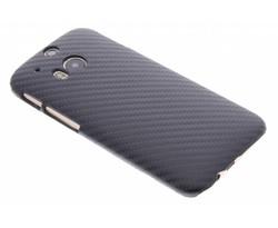 Zwart carbon look hardcase hoesje HTC One M8 / M8s