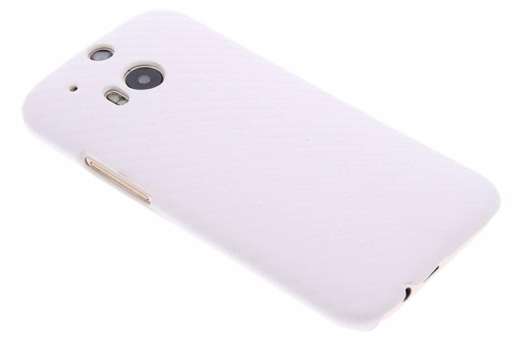 Wit carbon look hardcase hoesje voor de HTC One M8 / M8s