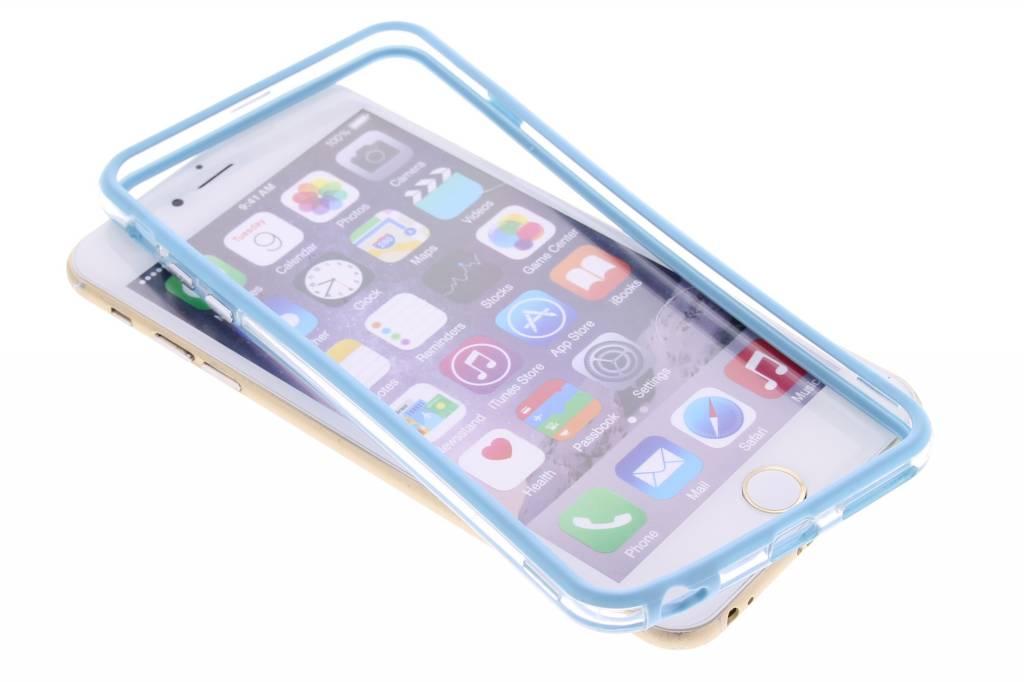 Turquoise transparante bumper voor de iPhone 6(s) Plus