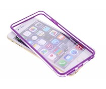 Paars transparante bumper iPhone 6(s) Plus
