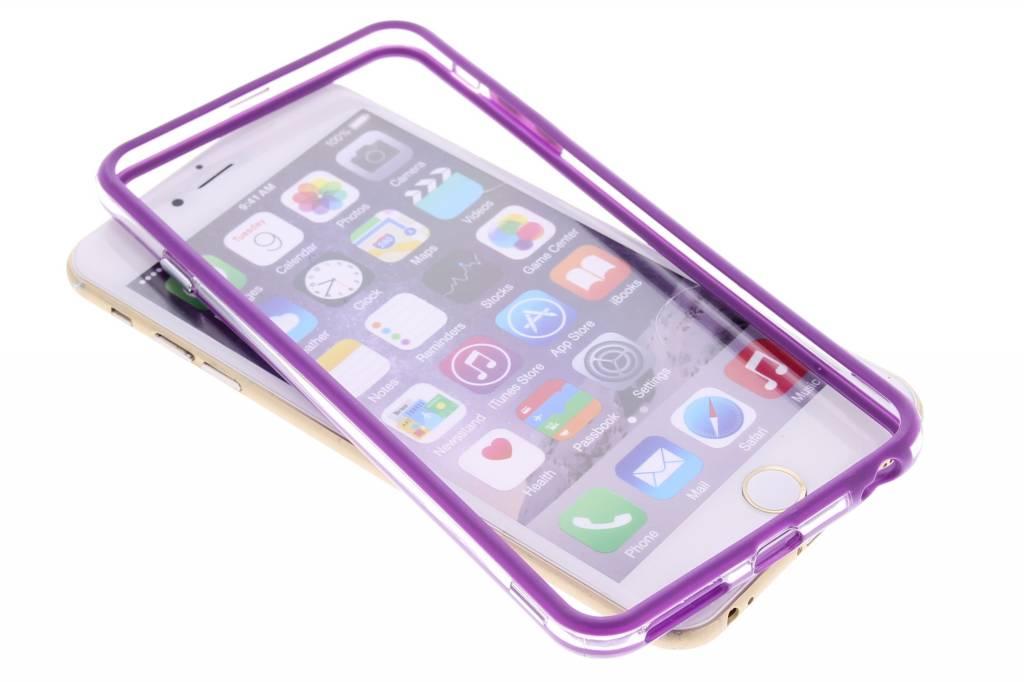 Paars transparante bumper voor de iPhone 6(s) Plus