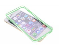 Groen transparante bumper iPhone 6(s) Plus