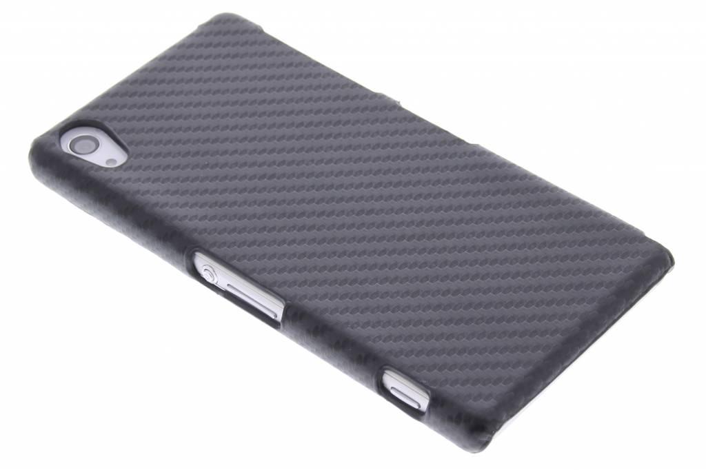Zwart carbon look hardcase hoesje voor de Sony Xperia Z2