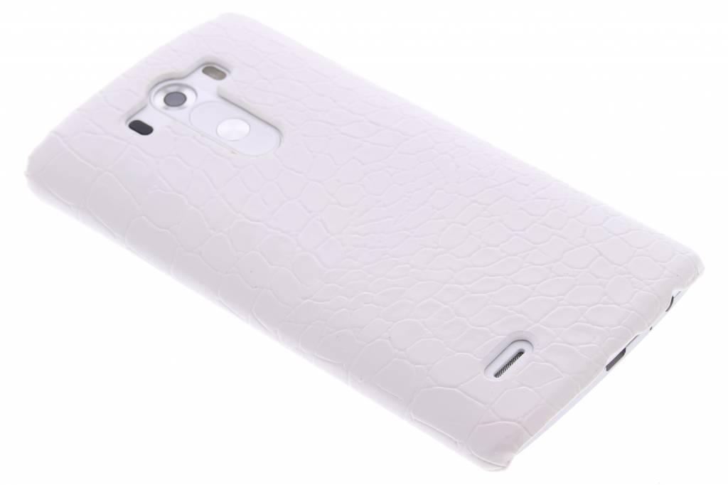 Wit krokodil design hardcase hoesje voor de LG G3