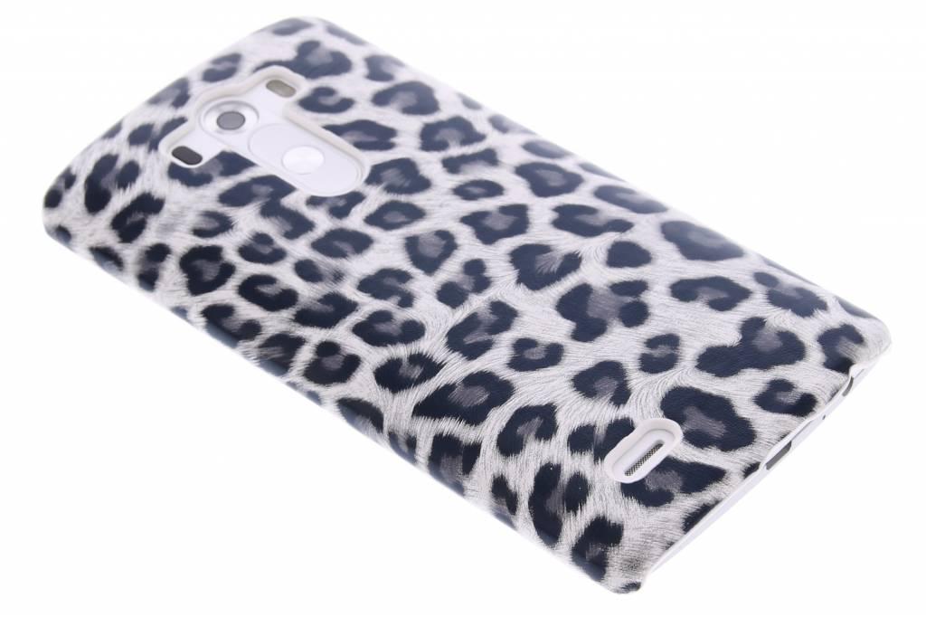 Grijs luipaard design hardcase hoesje voor de LG G3