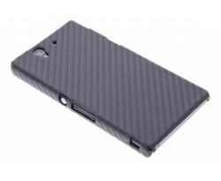 Zwart carbon look hardcase hoesje Sony Xperia Z