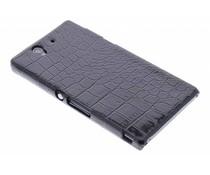 Zwart krokodil design hardcase hoesje Sony Xperia Z