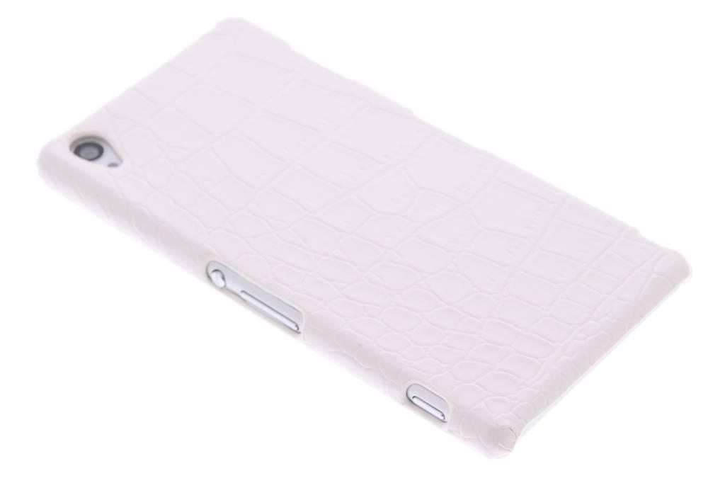 Wit krokodl design hardcase hoesje voor de Sony Xperia Z3