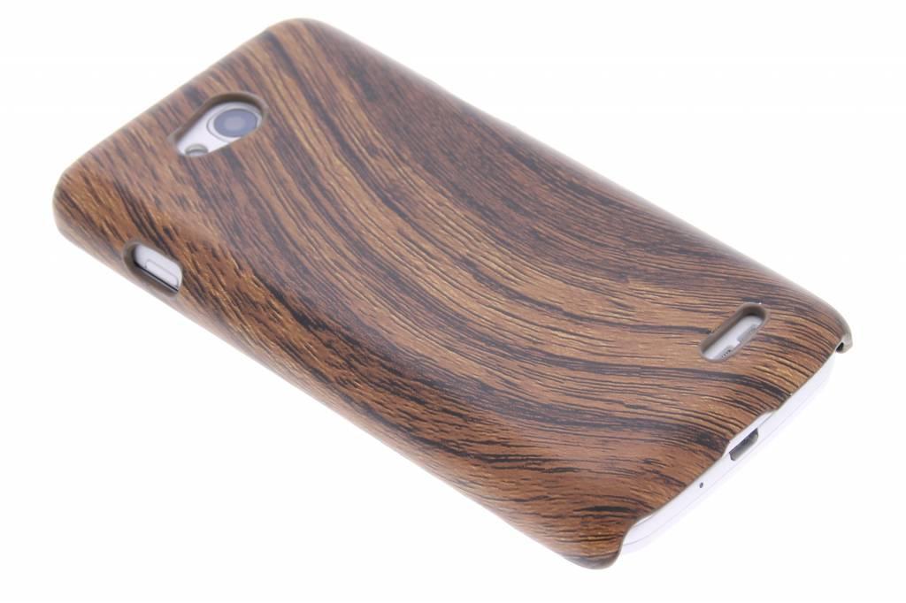 Hout design hardcase hoesje voor de LG L90