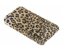 Luipaard flock hardcase hoesje iPhone 4 / 4s