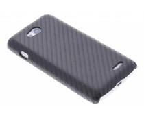 Zwart carbon look hardcase hoesje LG L90