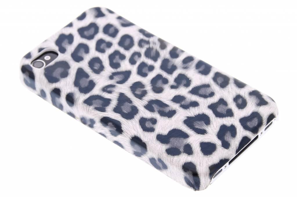 Grijs luipaard design hardcase hoesje voor de iPhone 4 / 4s