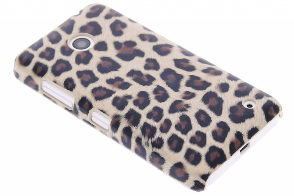 Bruin luipaard design hardcase hoesje voor de Nokia Lumia 630 / 635
