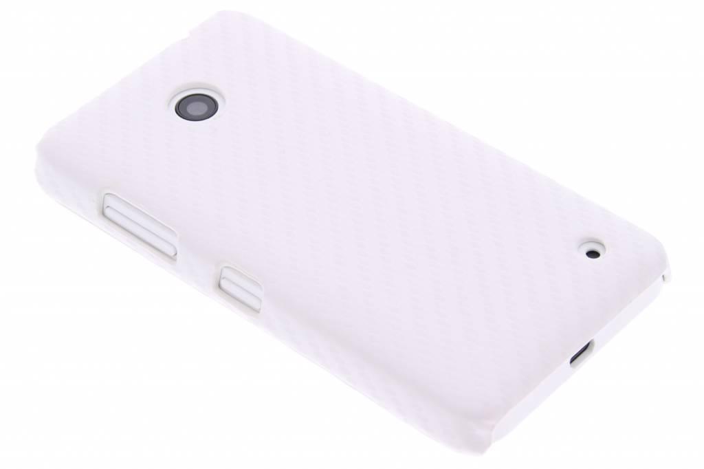 Wit carbon look hardcase hoesje voor de Nokia Lumia 630 / 635
