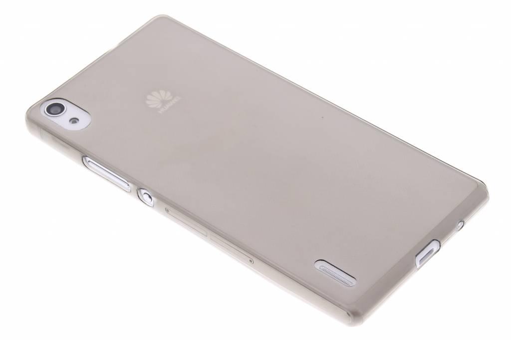 Cas De Gel Gris Transparent Pour Huawei Ascend P7 uE3vw5w3hb