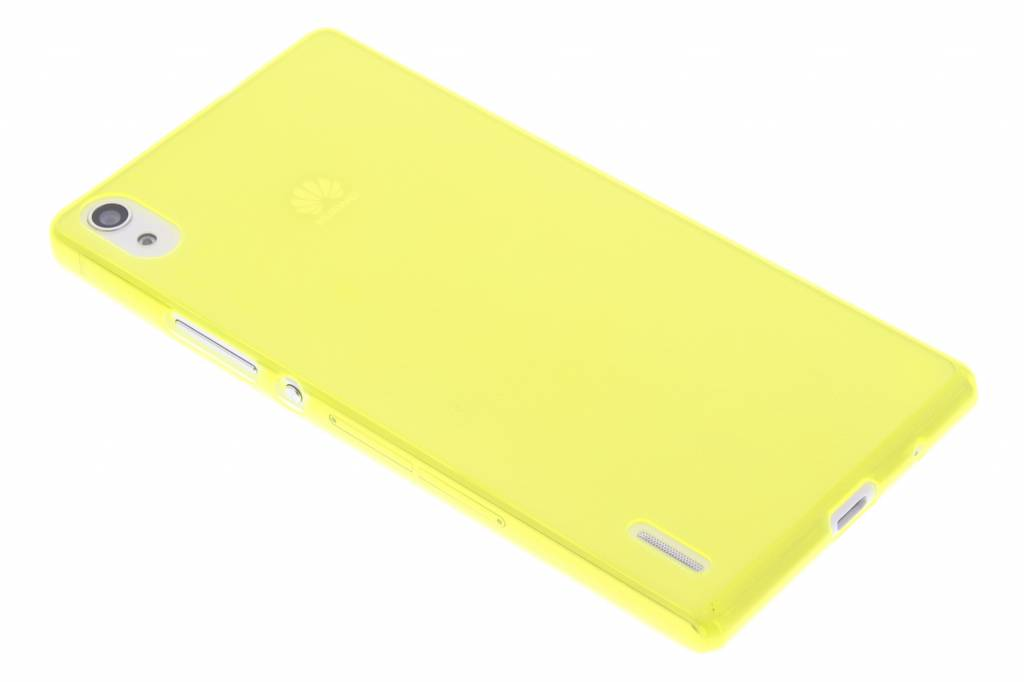 Lime ultra thin transparant TPU hoesje voor de Huawei Ascend P7