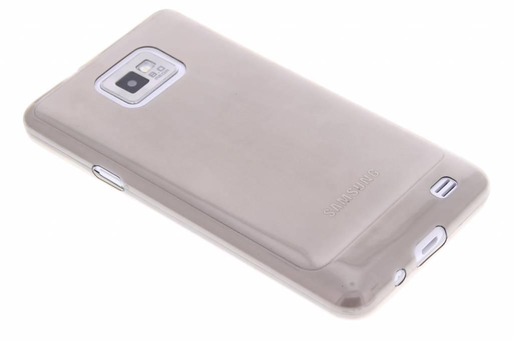 Grijs ultra thin transparant TPU hoesje voor de Samsung Galaxy S2 (Plus)
