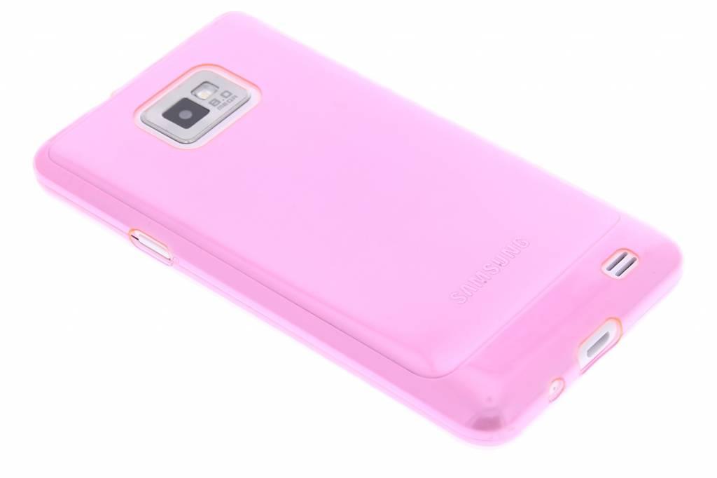 Roze ultra thin transparant TPU hoesje voor de Samsung Galaxy S2 (Plus)