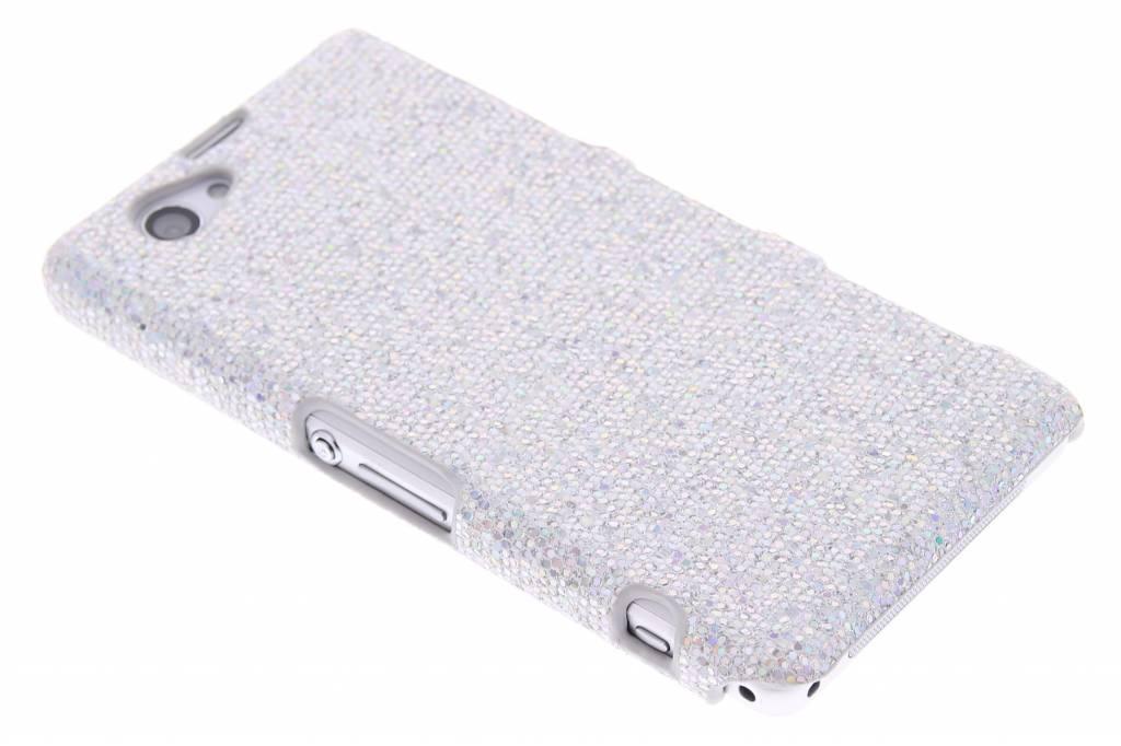Zilver glamour design hardcase hoesje voor de Sony Xperia Z1 Compact