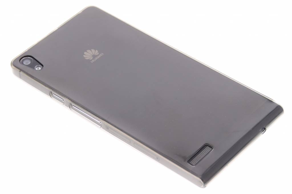 Grijs ultra thin transparant TPU hoesje voor de Huawei Ascend P6 / P6s