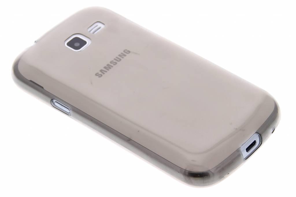 Grijs ultra thin transparant TPU hoesje voor de Samsung Galaxy Trend Lite