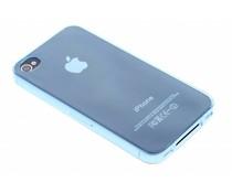Blauw ultra thin transparant TPU hoesje iPhone 4 / 4s