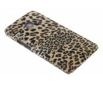 Luipaard flock hardcase hoesje HTC One