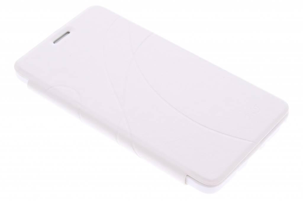Witte lijnmotief booktype hoes voor de Samsung Galaxy Note 4