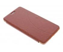 Bruin lijnmotief booktype hoes Samsung Galaxy Note 4