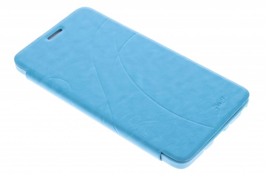 Turquoise lijnmotief booktype hoes voor de Samsung Galaxy Note 4