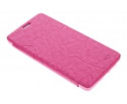 Fuchsia lijnmotief booktype hoes Samsung Galaxy Note 4